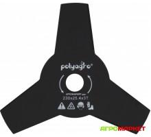 Диск для триммера 3 лопасти 230мм х 25,4мм х 1,4мм Polyagro