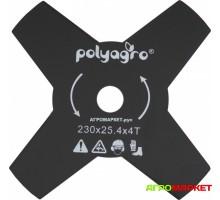 Диск для триммера 4 лопасти 230мм х 25,4мм х 1,4мм Polyagro