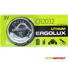 Элемент питания CR2032 3V Lithium Ergolux