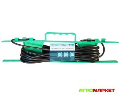Удлинитель электрический на рамке 20м UR-1g-20m 1 розетка б/з Jilion