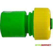 Соеденитель быстросъемный для шланга 3/4 с аквастопом Polyagro Lite