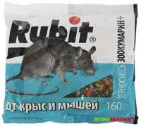 Зерносмесь от крыс и мышей 160г Зоокумарин+ Rubit